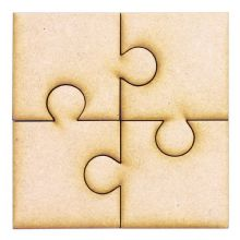 4 Piece Square Puzzle - Ideal for Box Frames